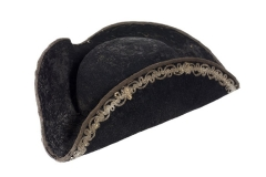Cappello nero tricorno, 1750/1800, Museo di Palazzo Mocenigo
